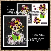 Clarice Pansies Decoupage Card Design
