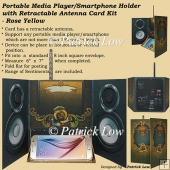Portable Media Player/Smartphone Holder Card - Rose Yellow