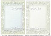 2 x A5 Mustard (2) Lace Frames for Card Making & Scrapbooking