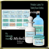 Travel Toiletry Bottle Labels 2