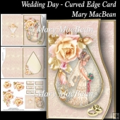 Wedding Day - Curved Edge Card