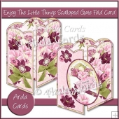 Enjoy The Little Things Scalloped Gate Fold Card