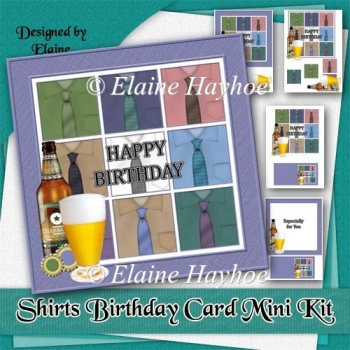 Shirts Birthday Card Mini Kit