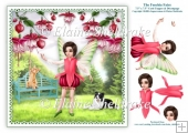 The Fuschia Flower Fairy - 7.5 x 7.5 Printable Card Topper