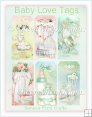 Cottage Chic Baby Love Tag Set