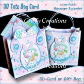Easter 3D Tote Bag Card/Gift Bag