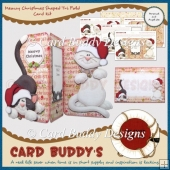 Meowy Christmas Shaped Tri Fold Card Kit