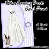Lilac Evening Dress Card Front