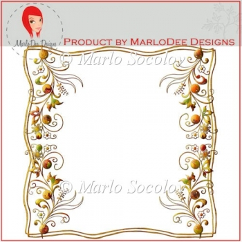Floral Fall Colors Frame Freebie by Marlo