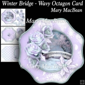 Winter Bridge Wavy Octagon Card