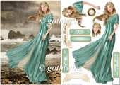 Lady Guinevere (aqua) With Matching Insert