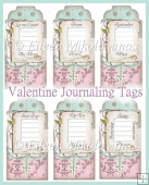 Love Valentine Journaling Tag Set