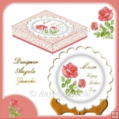 MOTHERS DAY PLATE CARD AND BOX