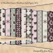 10 Chocolate Creams Christmas 12x12 Papers Set 3
