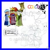 We 3 kings scene and sentiment digi stamp