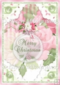 Shabby Pink Christmas Backing Background Paper