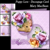 Puppy Love - Decoupage Card