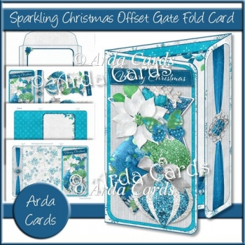 Sparkling Christmas Offset Gate Fold Card