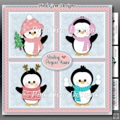 Penguin Kisses Squares Mini Kit