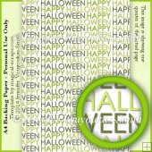 A4 Backing Paper - Happy Halloween Text 4