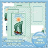 Christmas Candle C5 Foldback Card (A)