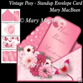 Vintage Posy - Stand-up Envelope Card