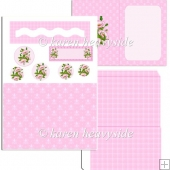Pink Poppies Wavy Slider Card
