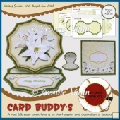 Lilies Spider Web Easel Card Kit