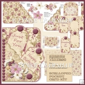 Shabby Vintage Scalloped Card Kit