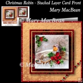 Christmas Robin - Stacked Layer Card Front