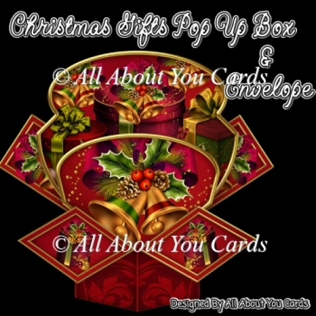 Christmas Gifts Pop Up Box Card & Envelope