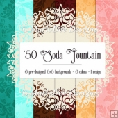 1950 Soda Fountain Colors - 8x8 Card Front Backgrounds {set 2}