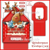 Reindeerpause Envelope Card