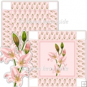 Pale Pink Lilly 5 x 5 Square Box