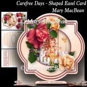 Carefree Days - Shaped Easel Card