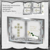 First holy communion book topper card
