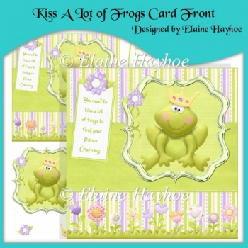 Kiss A Lot of Frogs Card Front