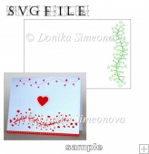 Tree with Hearts Card - SVG Cutting File