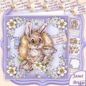 Bunnies Cup Of Tea All Occasions Decoupage & Insert Mini Kit