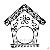 Birdhouse Digital Stamp - Commercial and Personal Use