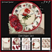 Christmas Clock Stepper Card Kit With Envelope 935