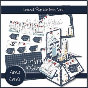 Coastal Pop Up Box Card