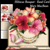 Hibiscus Bouquet - Easel Card