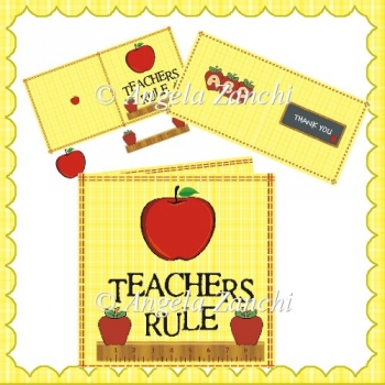 6X6 TEACHERS THANK YOU CARD