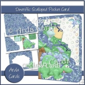 Dinoriffic Scalloped Pocket Card