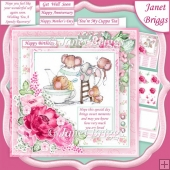 TIME FOR A CUPPA 7.5 Decoupage & Insert Kit Various Occasions