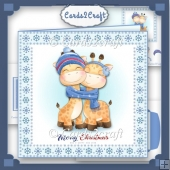 Christmas Reindeer card set