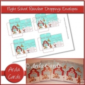 Flight School Reindeer Droppings Envelopes