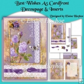 Best Wishes A5 Cardfront Decoupage & Inserts