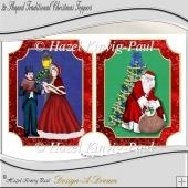 2x Shaped Traditional Christmas Toppers